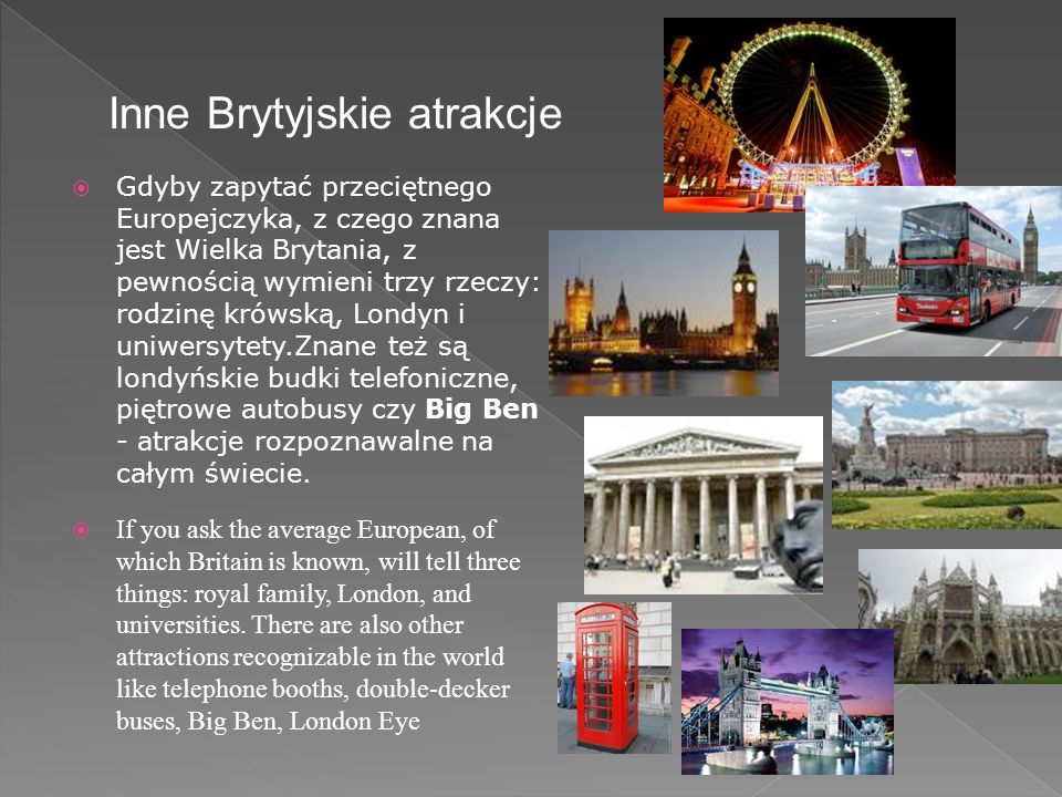 Inne Brytyjskie atrakcje