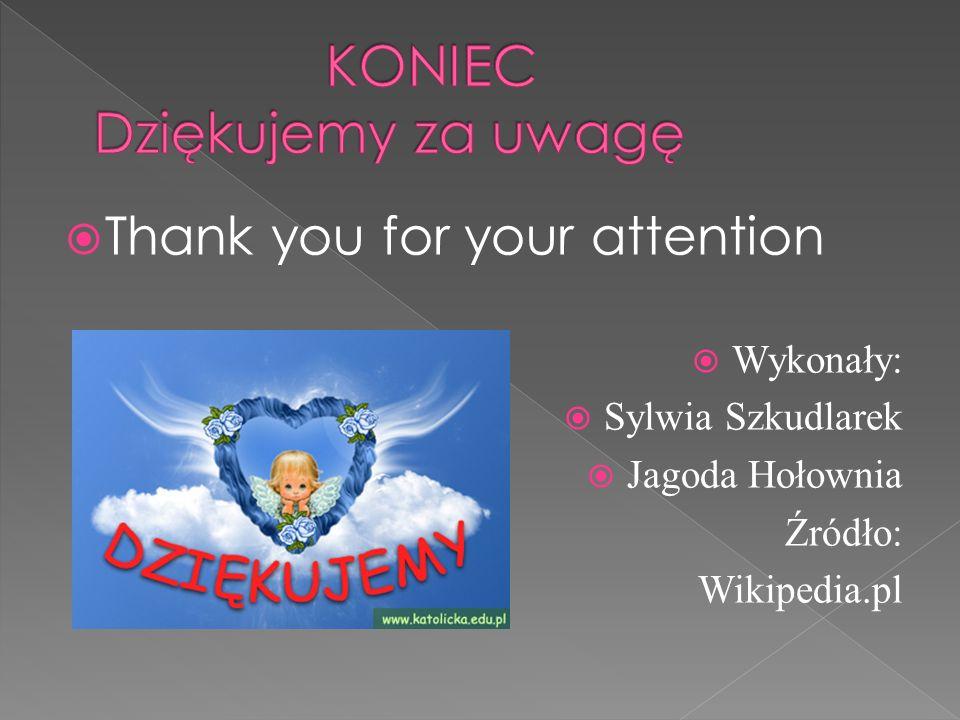 KONIEC Dziękujemy za uwagę