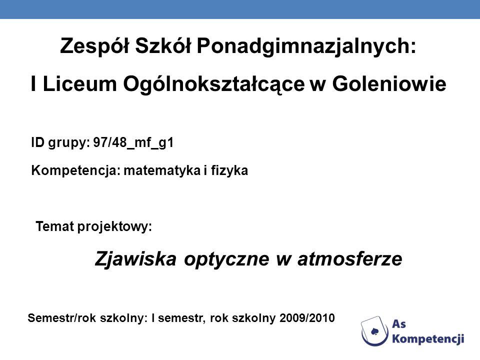 Zespół Szkół Ponadgimnazjalnych: