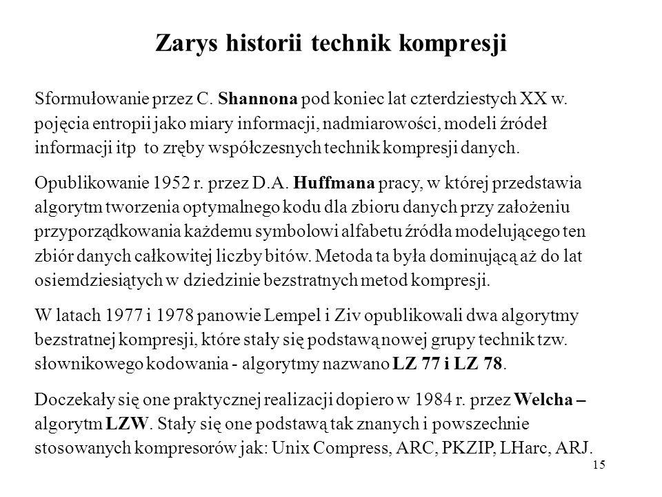 Zarys historii technik kompresji