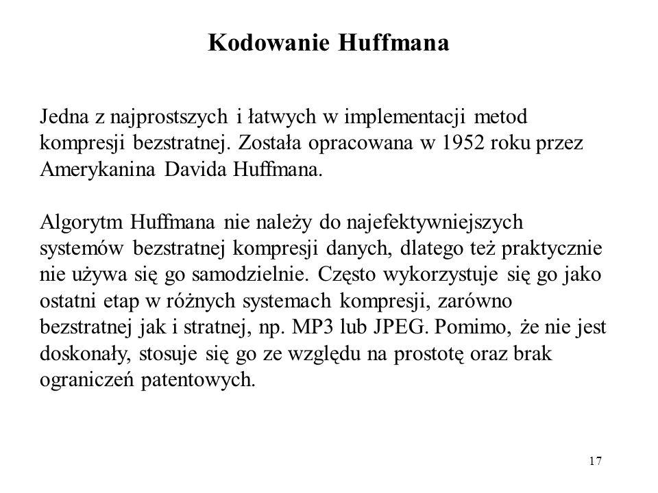 Kodowanie Huffmana