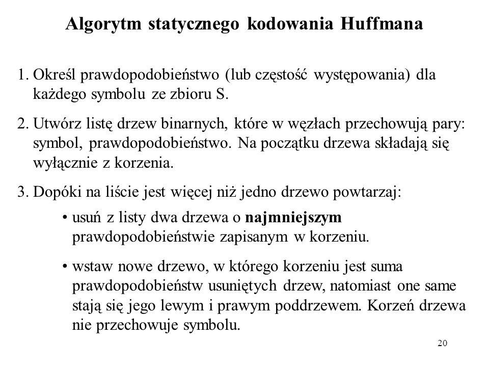 Algorytm statycznego kodowania Huffmana