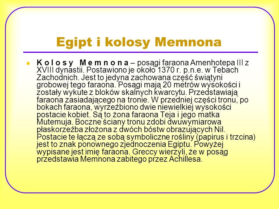 Egipt i kolosy Memnona