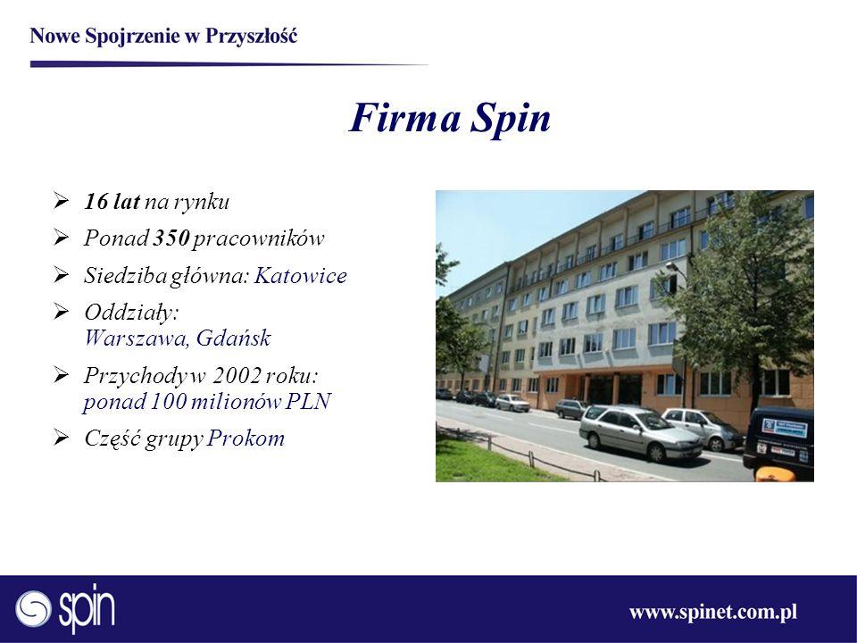 Firma Spin 16 lat na rynku Ponad 350 pracowników
