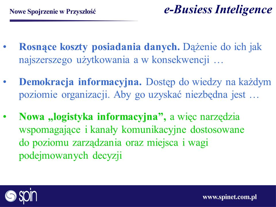 e-Busiess Inteligence