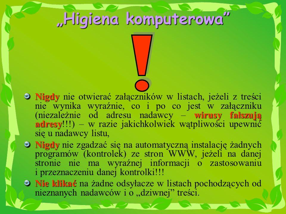 """""""Higiena komputerowa"""