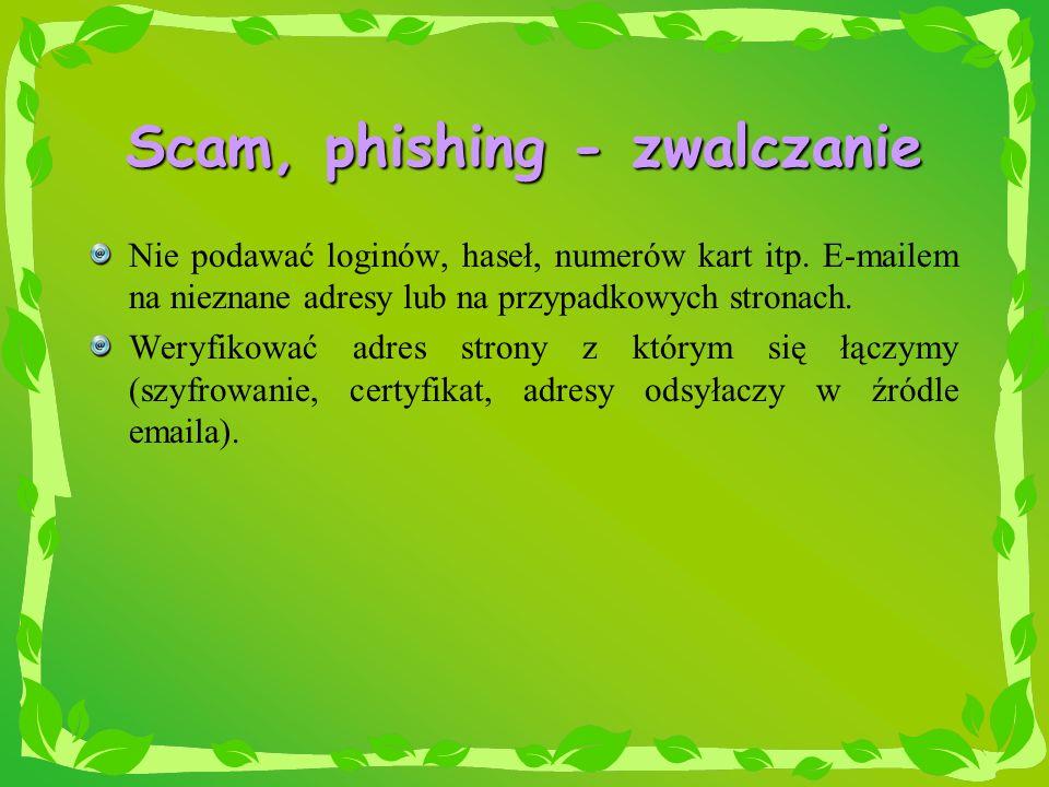 Scam, phishing - zwalczanie