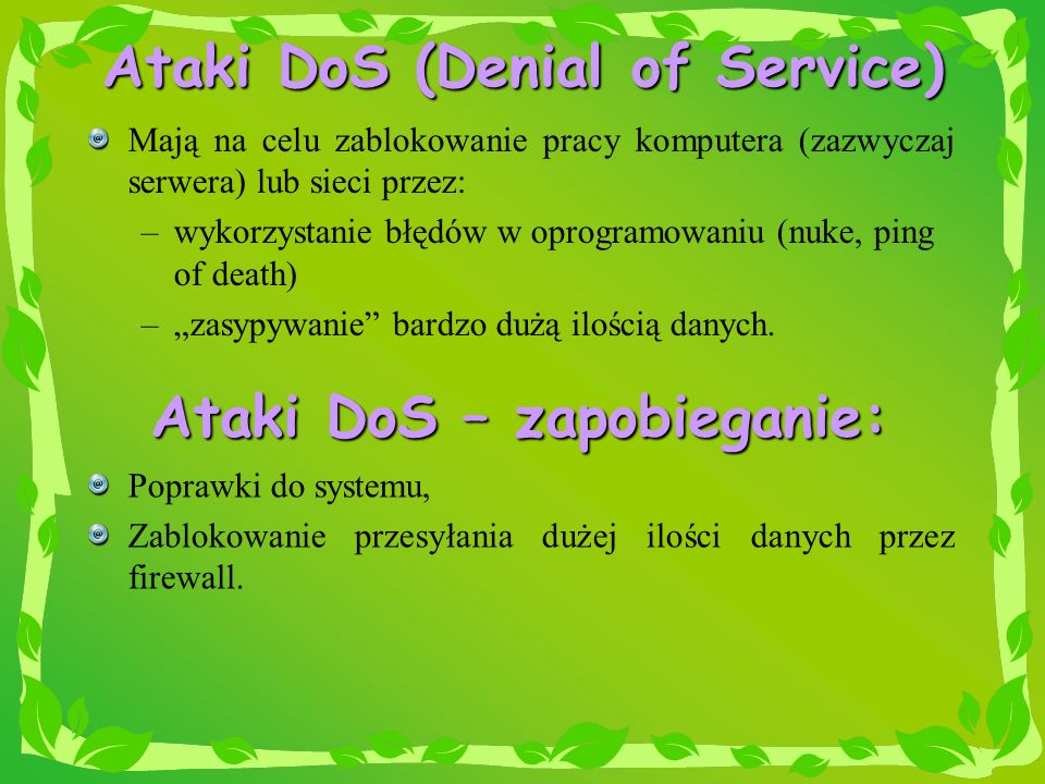 Ataki DoS (Denial of Service)