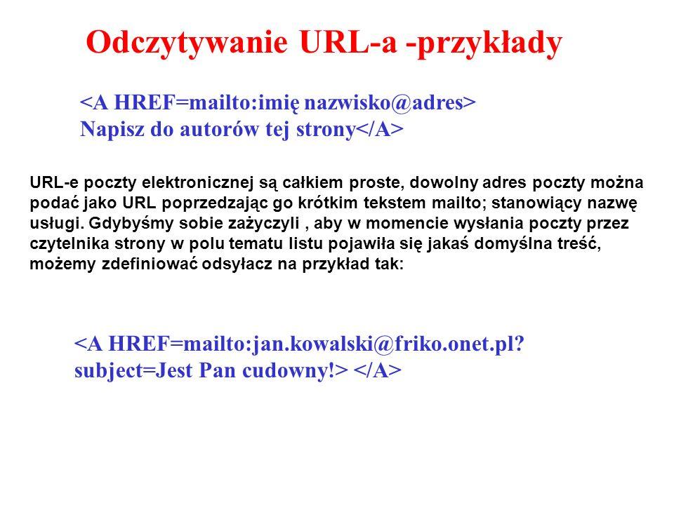 Odczytywanie URL-a -przykłady
