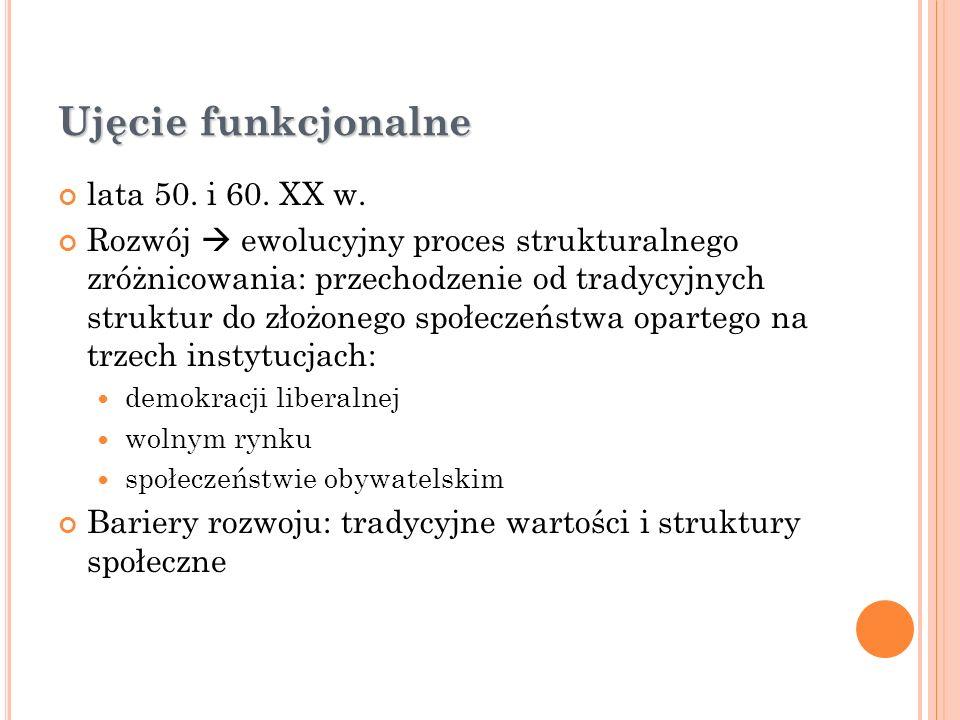 Ujęcie funkcjonalne lata 50. i 60. XX w.