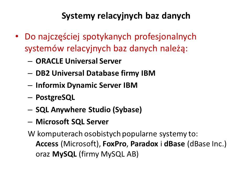 Systemy relacyjnych baz danych
