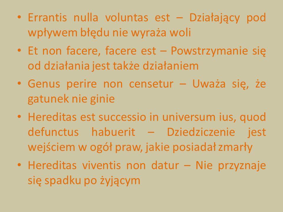 Errantis nulla voluntas est – Działający pod wpływem błędu nie wyraża woli