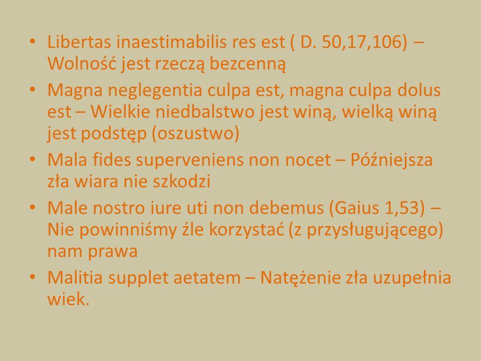 Libertas inaestimabilis res est ( D