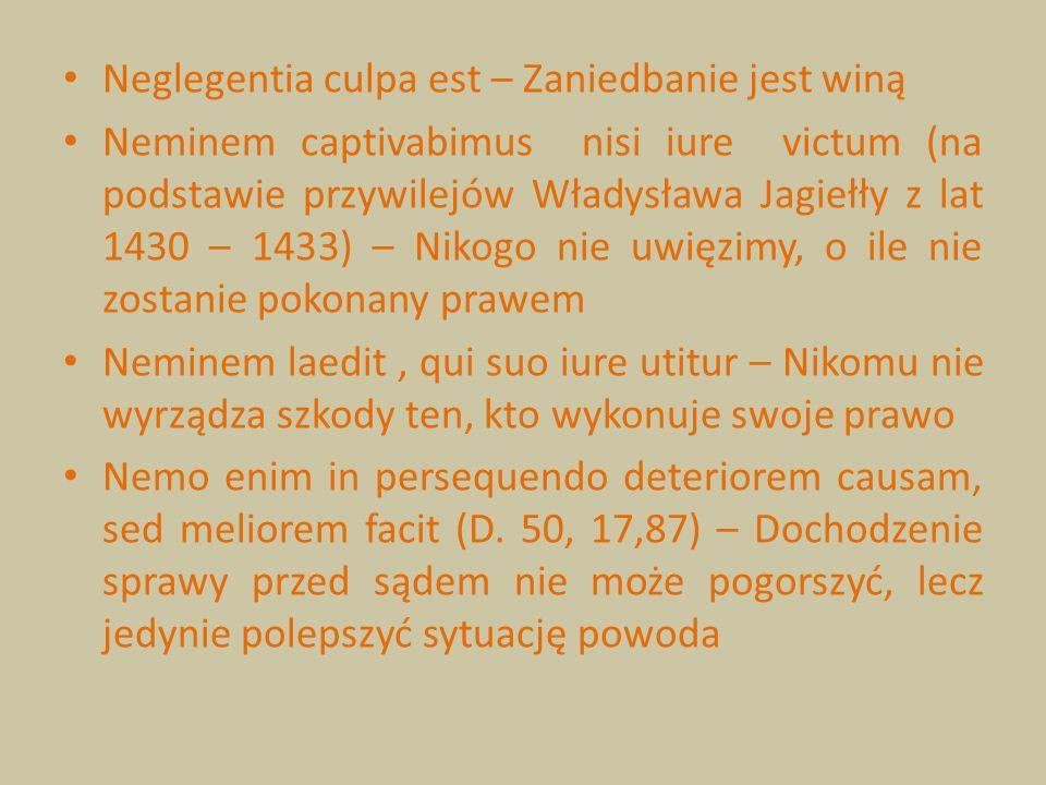 Neglegentia culpa est – Zaniedbanie jest winą