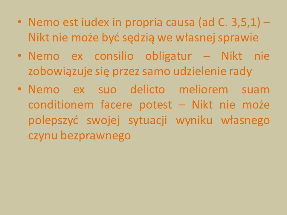 Nemo est iudex in propria causa (ad C