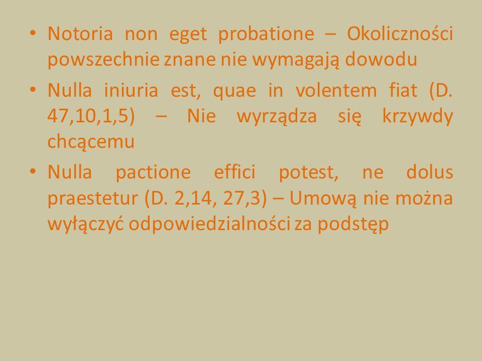 Notoria non eget probatione – Okoliczności powszechnie znane nie wymagają dowodu