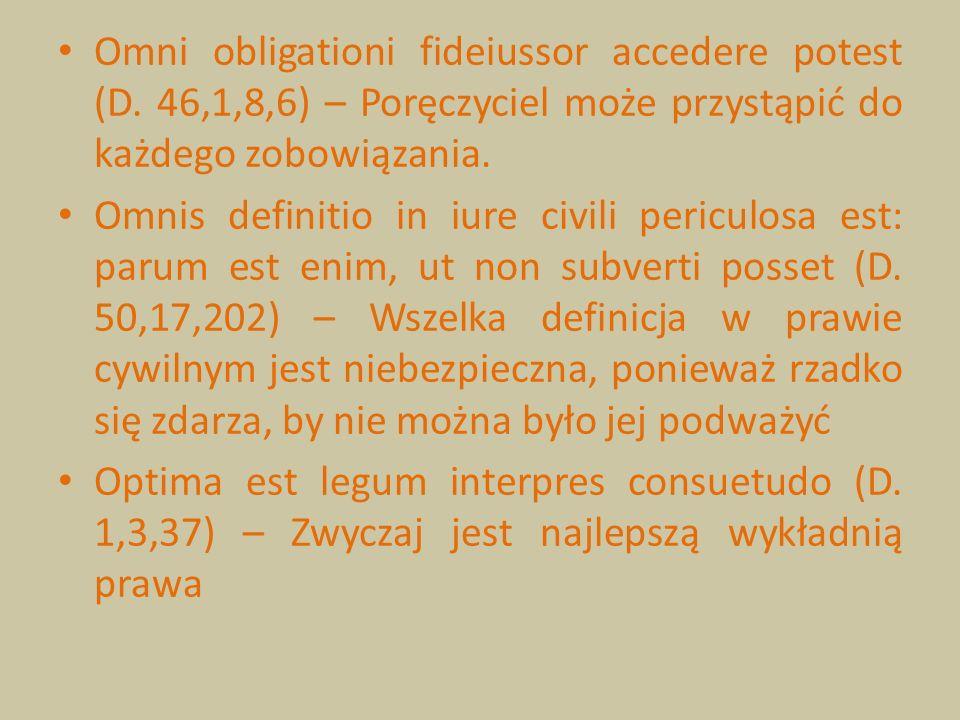 Omni obligationi fideiussor accedere potest (D
