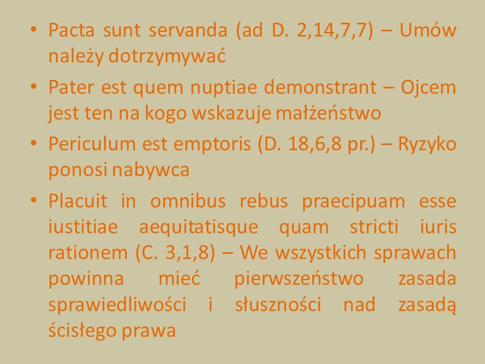 Pacta sunt servanda (ad D. 2,14,7,7) – Umów należy dotrzymywać