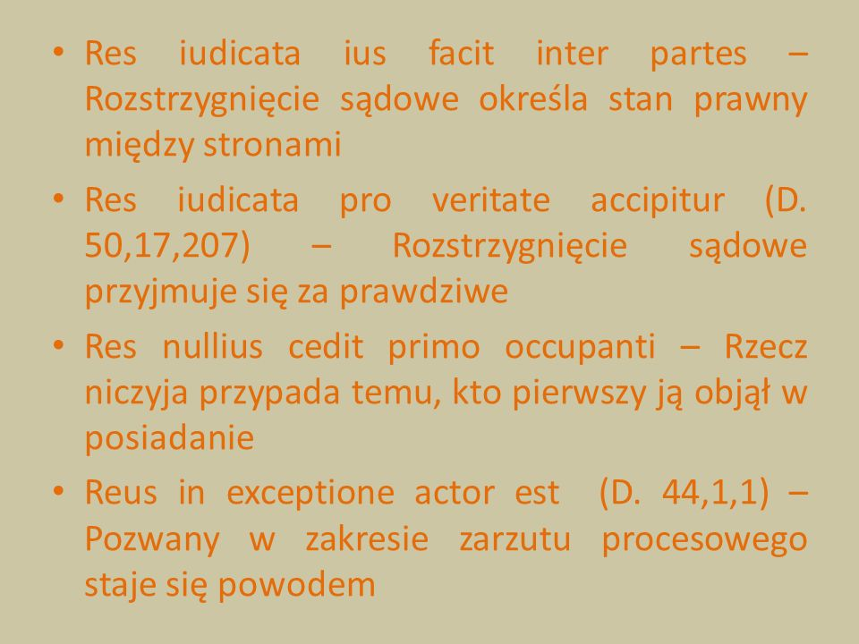 Res iudicata ius facit inter partes – Rozstrzygnięcie sądowe określa stan prawny między stronami