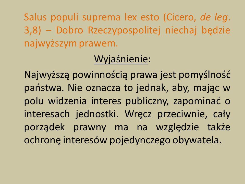 Salus populi suprema lex esto (Cicero, de leg