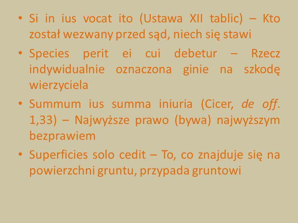 Si in ius vocat ito (Ustawa XII tablic) – Kto został wezwany przed sąd, niech się stawi