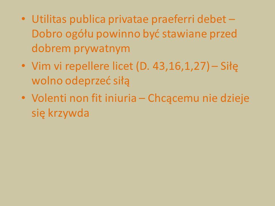 Utilitas publica privatae praeferri debet – Dobro ogółu powinno być stawiane przed dobrem prywatnym