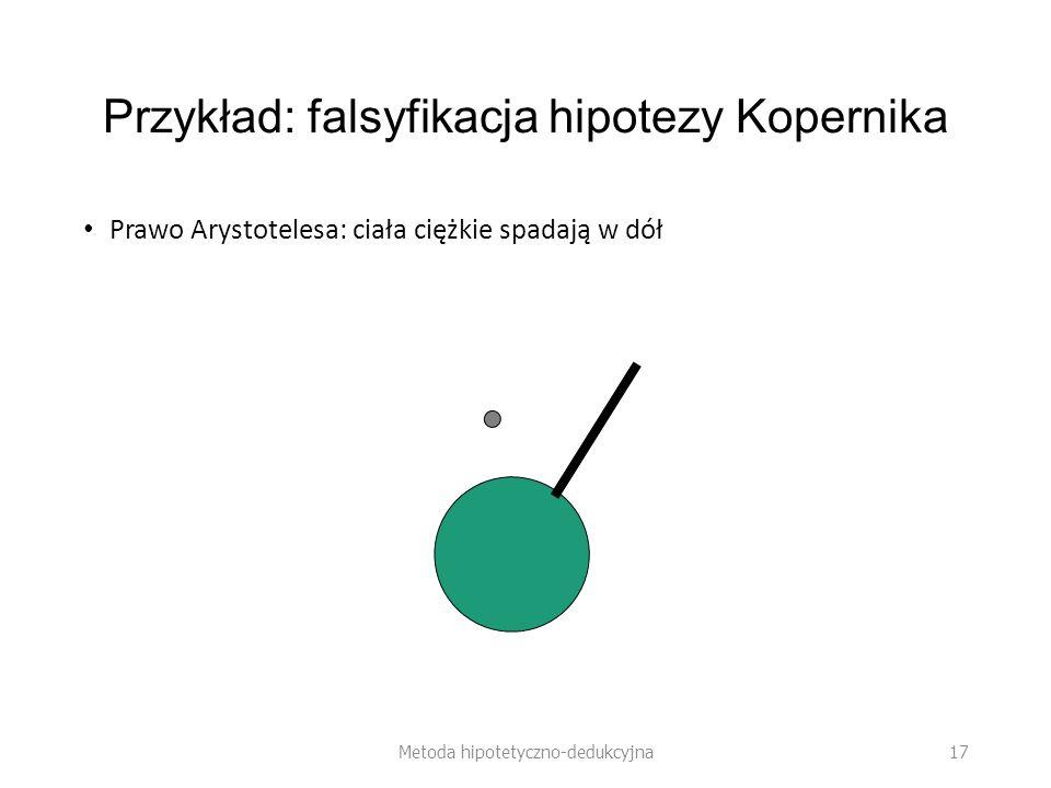 Przykład: falsyfikacja hipotezy Kopernika