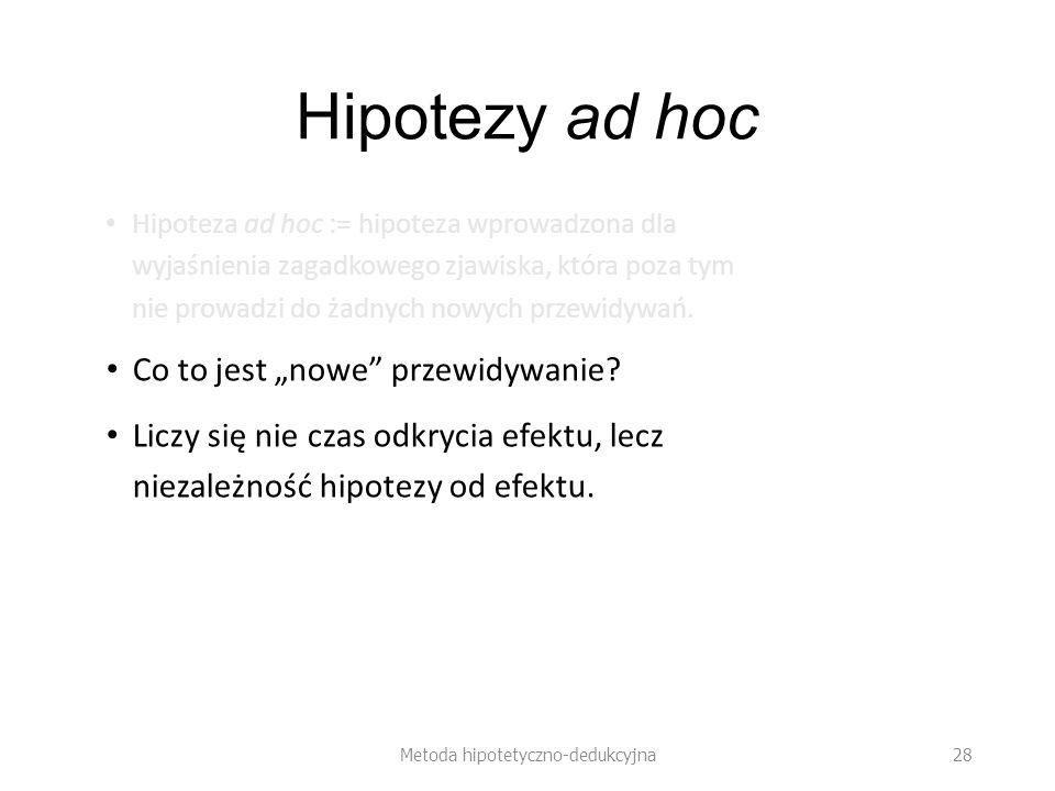Metoda hipotetyczno-dedukcyjna