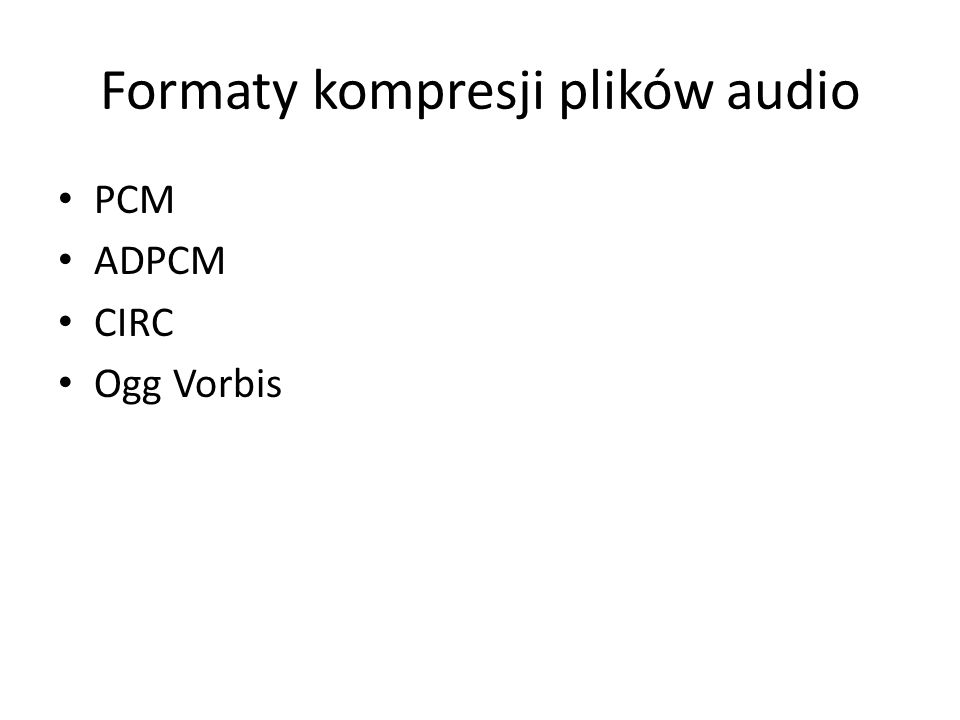 Formaty kompresji plików audio