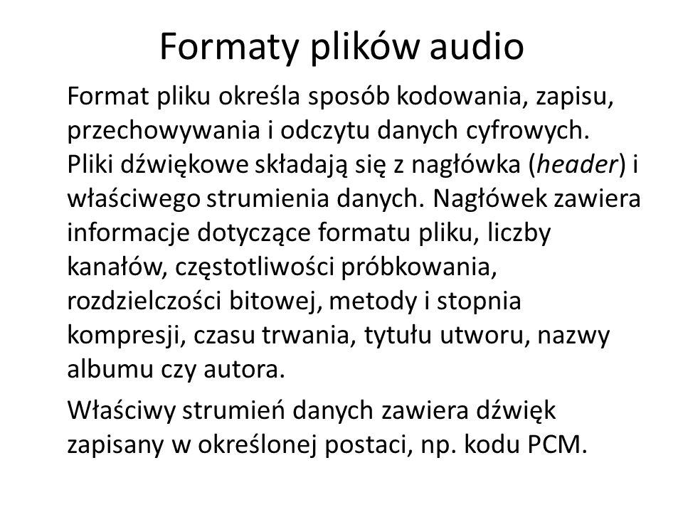 Formaty plików audio