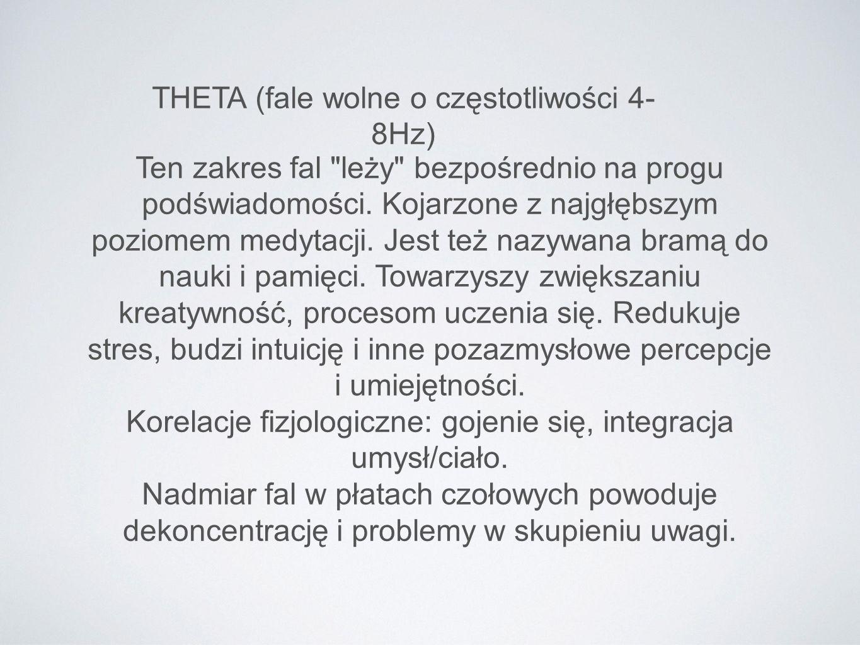 THETA (fale wolne o częstotliwości 4-8Hz)