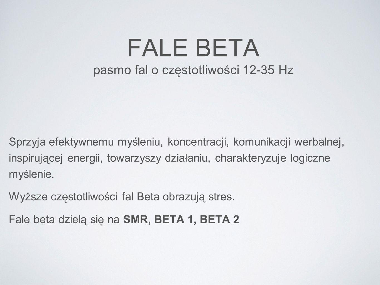 FALE BETA pasmo fal o częstotliwości 12-35 Hz