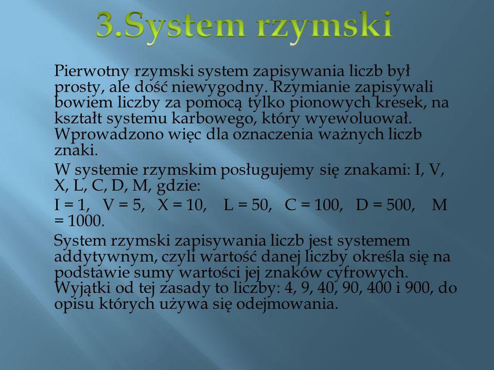 3.System rzymski