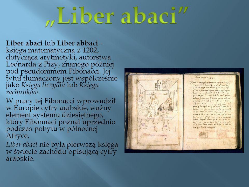 """""""Liber abaci"""