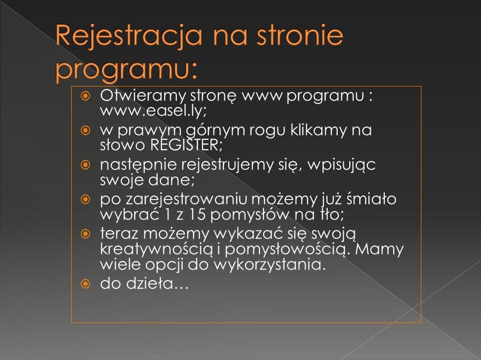 Rejestracja na stronie programu: