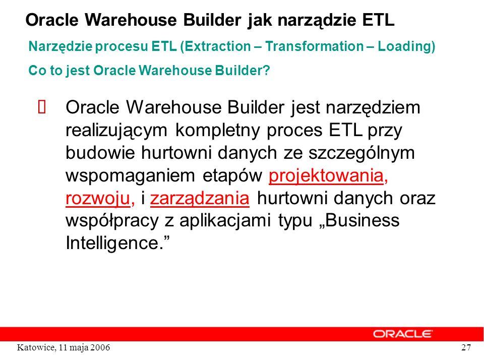 Oracle Warehouse Builder jak narządzie ETL