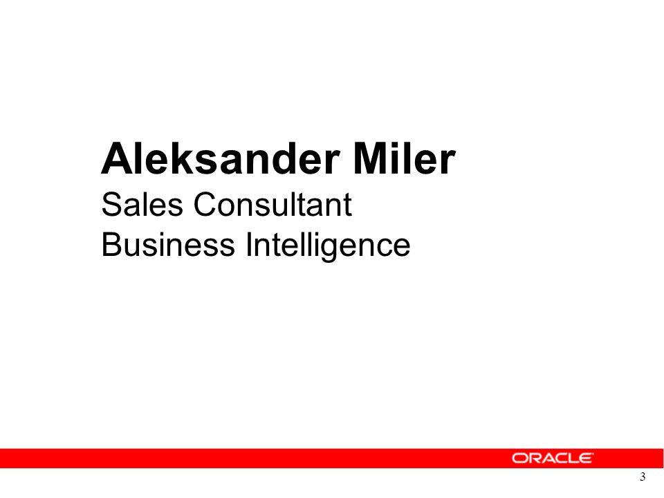 Aleksander Miler Sales Consultant