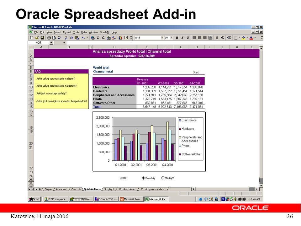 Oracle Spreadsheet Add-in