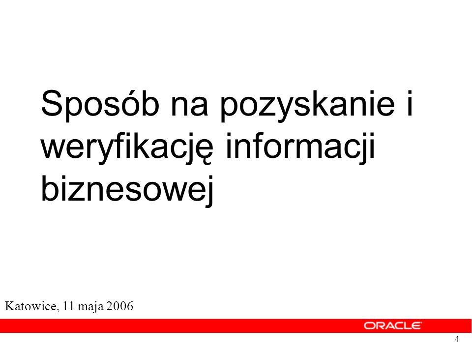 weryfikację informacji biznesowej