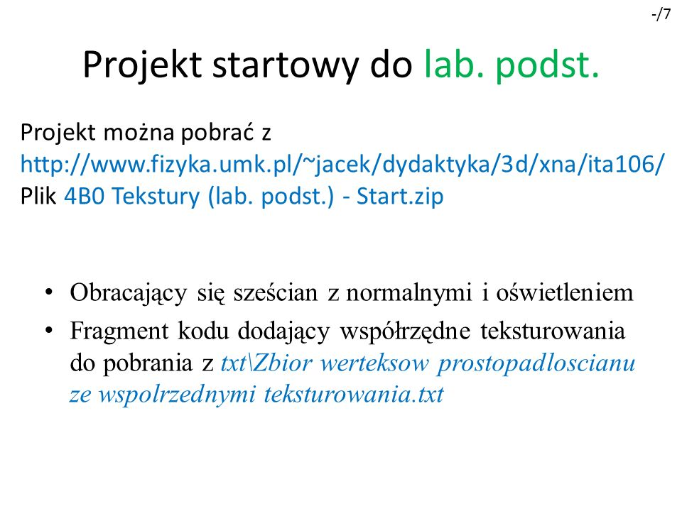 Projekt startowy do lab. podst.