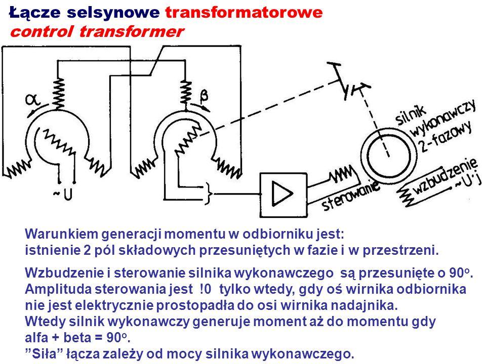 Łącze selsynowe transformatorowe control transformer