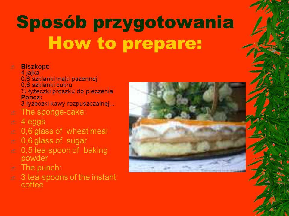 Sposób przygotowania How to prepare:
