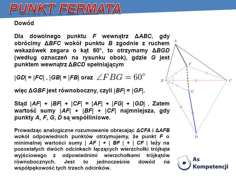 PUNKT FERMATA Dowód.