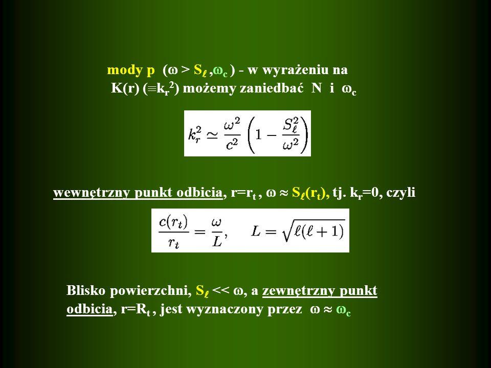 mody p ( > S ,c ) - w wyrażeniu na