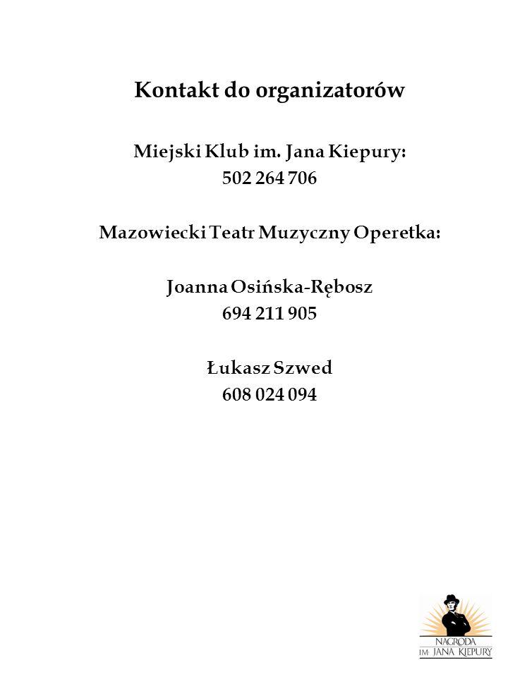 Kontakt do organizatorów