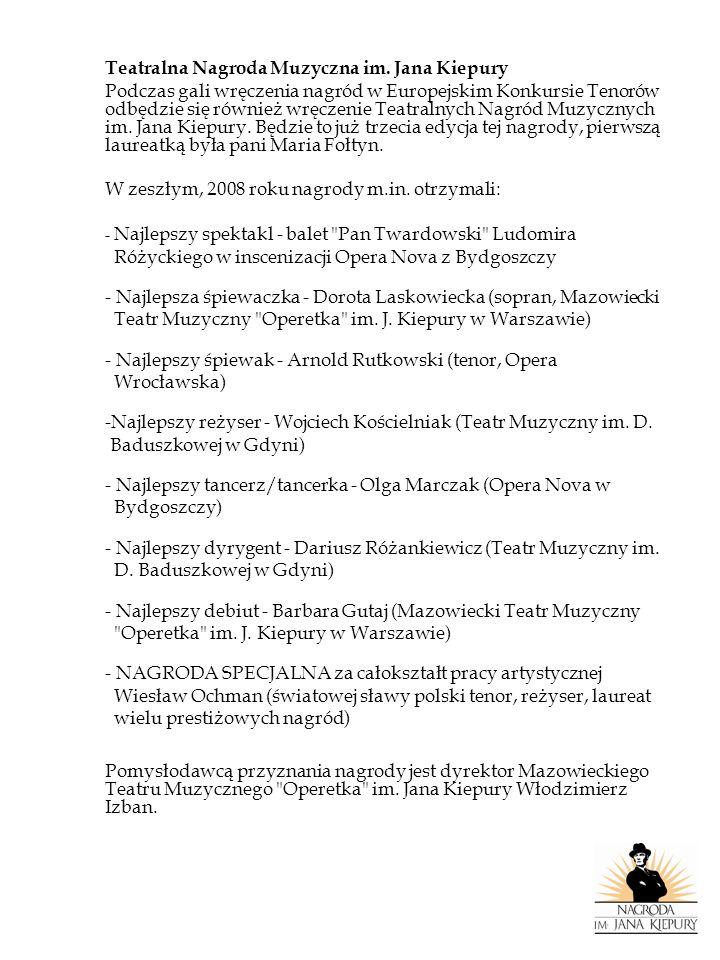 Teatralna Nagroda Muzyczna im. Jana Kiepury