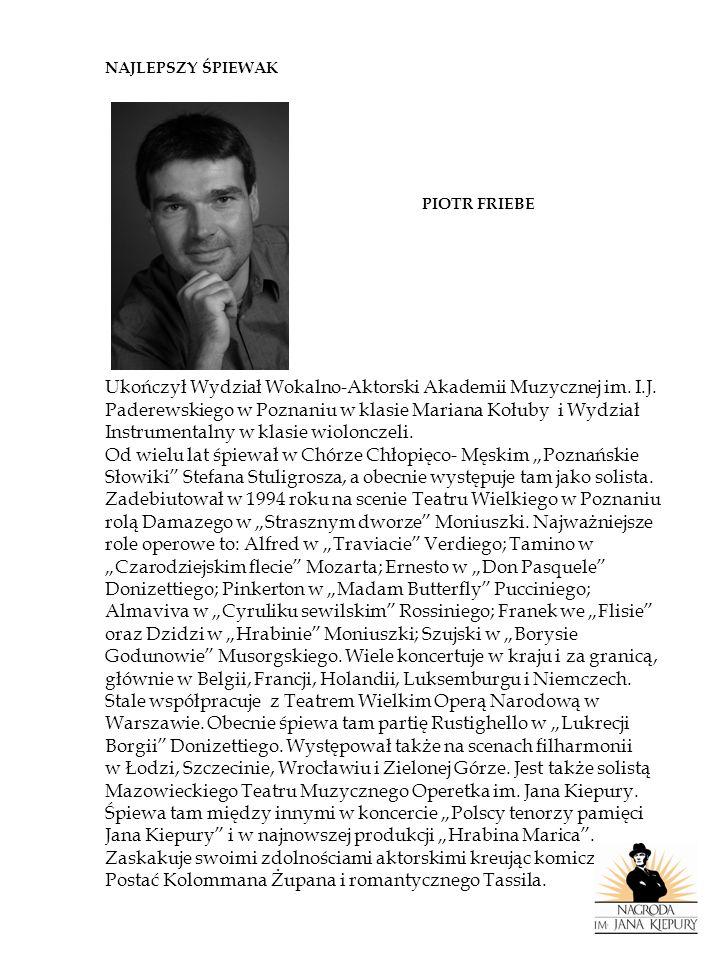 Ukończył Wydział Wokalno-Aktorski Akademii Muzycznej im. I.J.