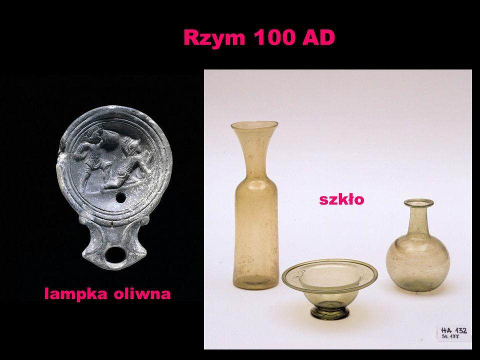 Rzym 100 AD szkło lampka oliwna
