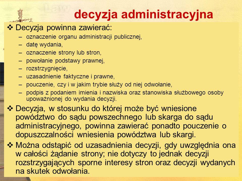 decyzja administracyjna