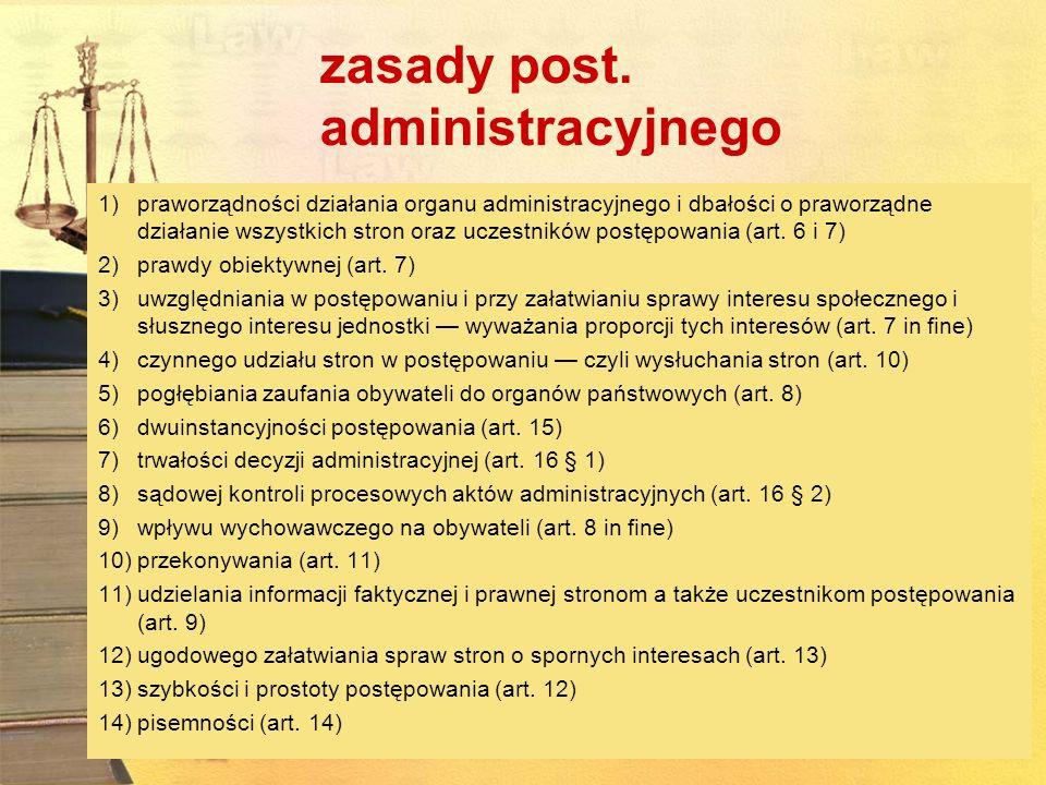 zasady post. administracyjnego